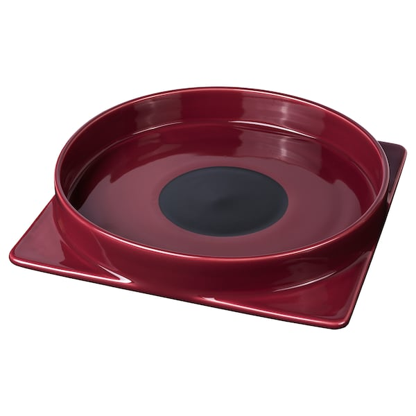 FREKVENS Serving plate, red, 30x30 cm