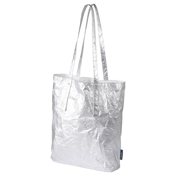 FREKVENS Tote bag medium, silver-colour, 16 l