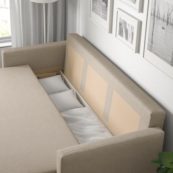 FRIHETEN كنبة-سرير 3 مقاعد, Hyllie بيج