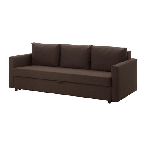 Friheten Three Seat Sofa Bed Skiftebo Brown Ikea