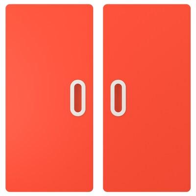 FRITIDS باب, أحمر, 60x64 سم 2 قطعة