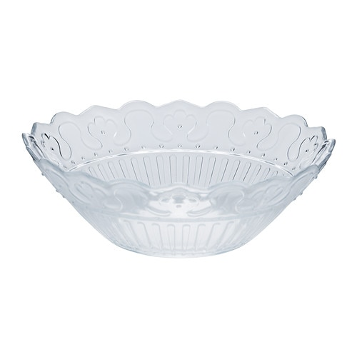 FRODIG Bowl IKEA Made of tempered glass, which makes the bowl durable and extra resistant to impact.