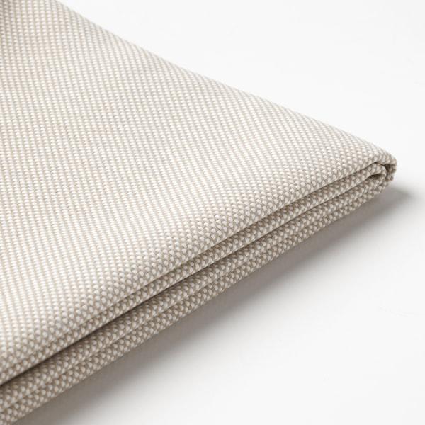 FRÖSÖN Cover for back cushion, outdoor beige, 62x44 cm