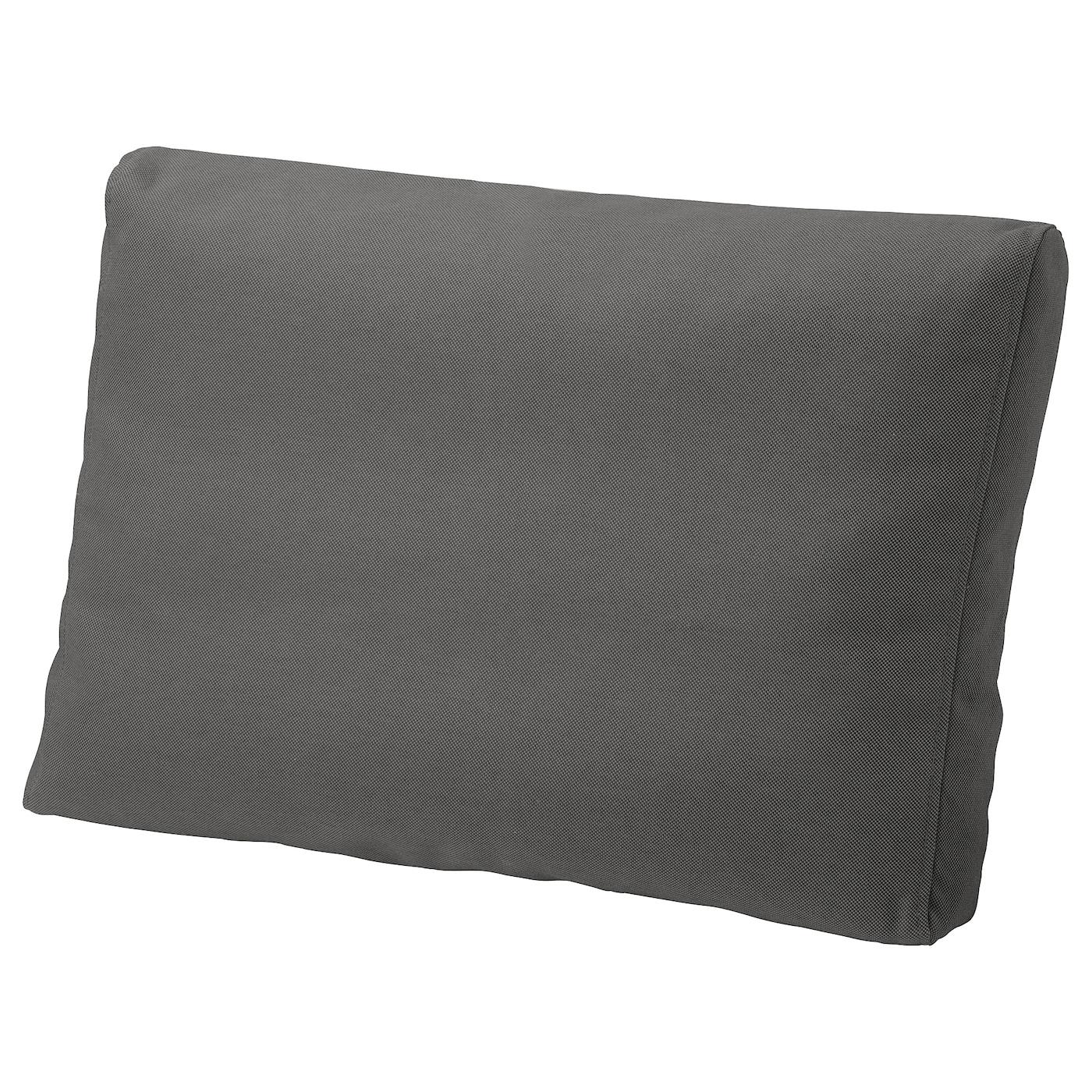 FRÖSÖN/DUVHOLMEN Back cushion, outdoor - dark grey 9x9 cm