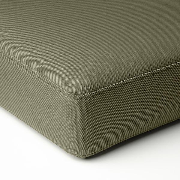 FRÖSÖN/DUVHOLMEN Seat cushion, outdoor, dark beige-green, 62x62 cm