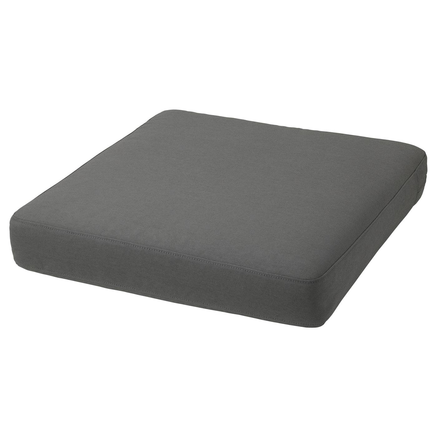 FRÖSÖN/DUVHOLMEN Seat cushion, outdoor - dark grey 8x8 cm