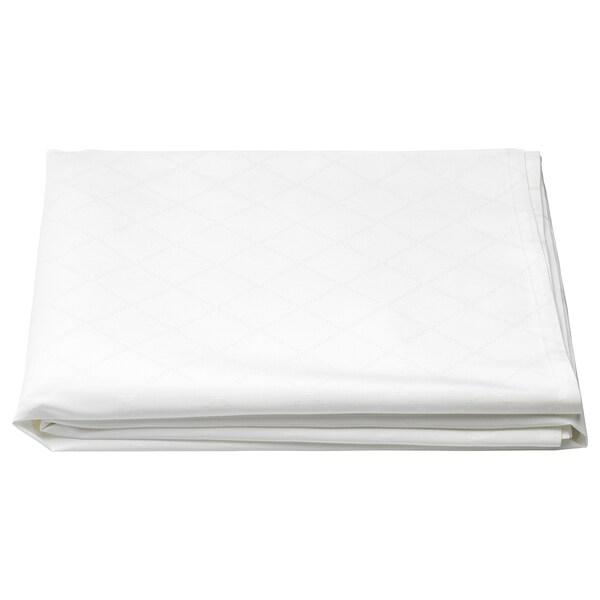 FULLKOMLIG شرشف طاولة, أبيض, 145x240 سم
