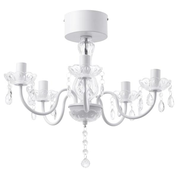 FYRTIO chandelier, 5-armed white 34 cm 52 cm