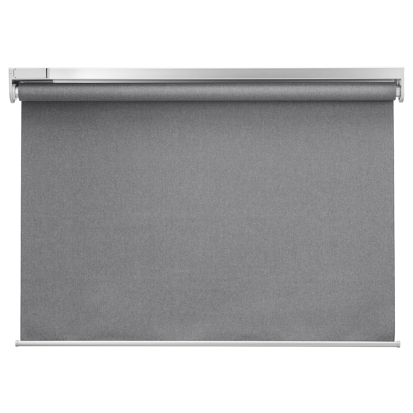 FYRTUR Block-out roller blind - wireless/battery-operated grey 4x4 cm
