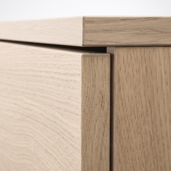 GALANT خزانة مع أبواب, قشرة سنديان مصبوغ أبيض, 80x120 سم