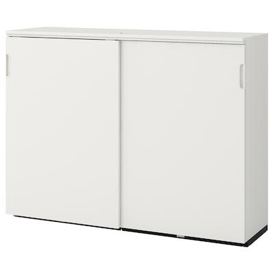 GALANT Cabinet with sliding doors, white, 160x120 cm