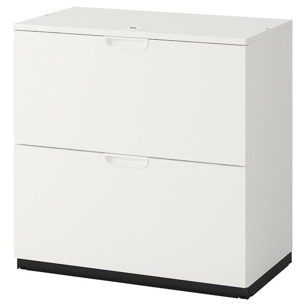 GALANT وحدة أدراج مع مكان لحفظ الملفات, أبيض, 80x80 سم