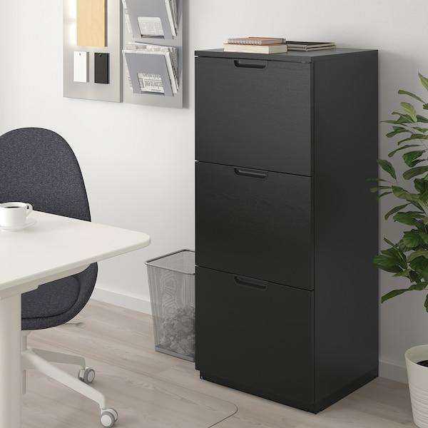 GALANT خزانة ملفات, قشرة الدردار لون الأسود, 51x120 سم