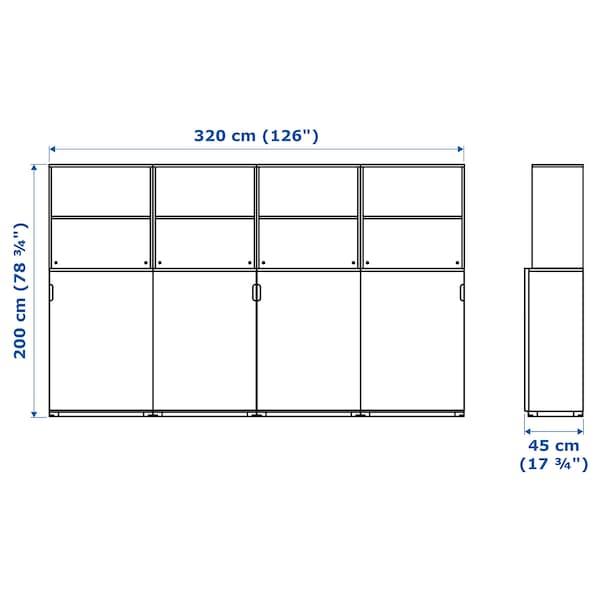 GALANT تشكيلة تخزين مع أبواب إنزلاقية, أبيض, 320x200 سم