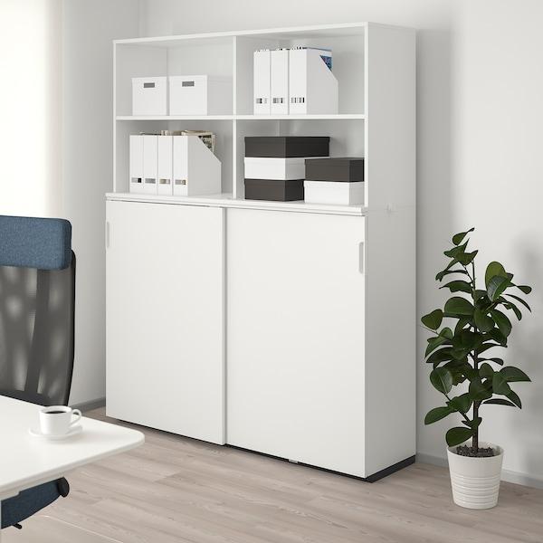 GALANT تشكيلة تخزين مع أبواب إنزلاقية, أبيض, 160x200 سم