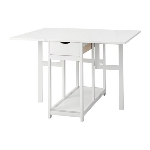 Ikea Folding Table Drop Leaf ~ GISSLABODA Drop leaf table IKEA Table with drop leaves seats 2 4