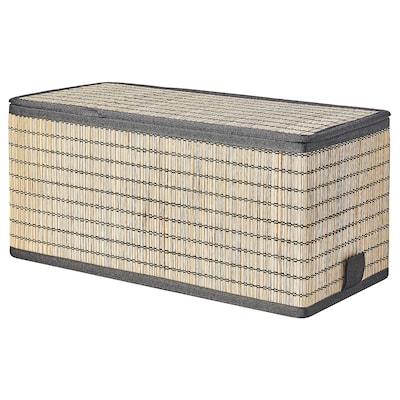 GNABBAS صندوق بغطاء, قش بحري, 16x35x16 سم
