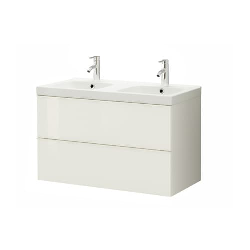 GODMORGON / ODENSVIK Wash-stand with 2 drawers IKEA 5 year guarantee.   Read about the terms in the guarantee brochure.