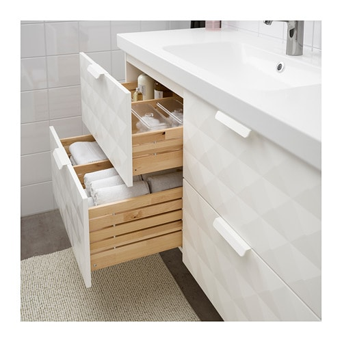 GODMORGON / ODENSVIK Wash-stand with 4 drawers - Resjön white - IKEA