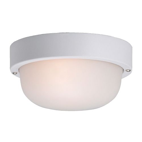 GOTÖ Ceiling/wall lamp IKEA Frosted glass gives glare-free general light.  Suitable for outdoor use; is protected against moisture and water.