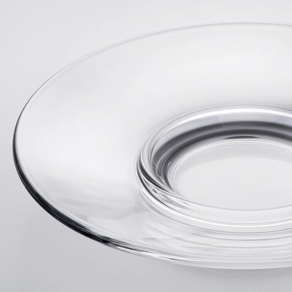 GOTTFINNANDE صحن للكوب, زجاج شفاف, 12 سم