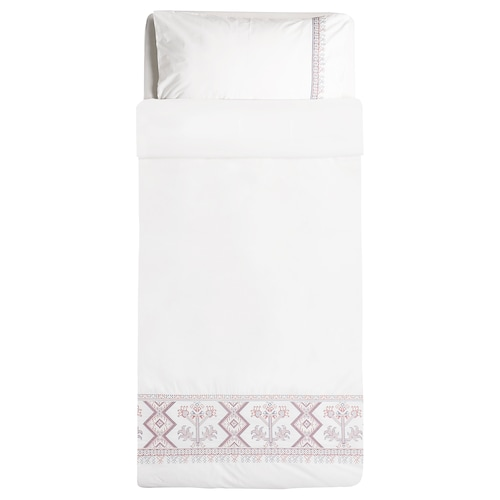 GRÄSULL quilt cover and pillowcase white 250 /inch² 200 cm 150 cm 50 cm 80 cm