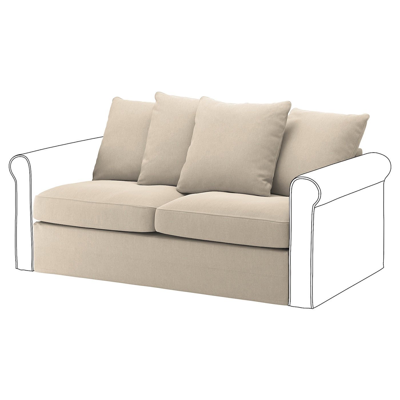 GrÖnlid 2 Seat Sofa Bed Section