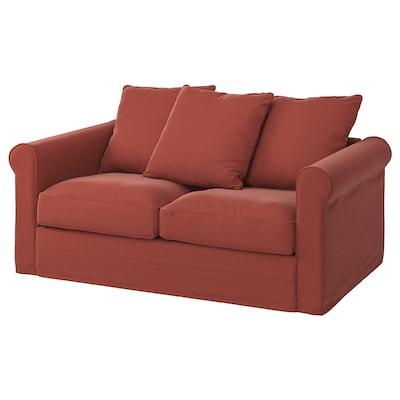 GRÖNLID 2-seat sofa, Ljungen light red
