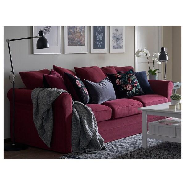 GRÖNLID 3-seat sofa Ljungen dark red 104 cm 247 cm 98 cm 7 cm 18 cm 68 cm 211 cm 60 cm 49 cm