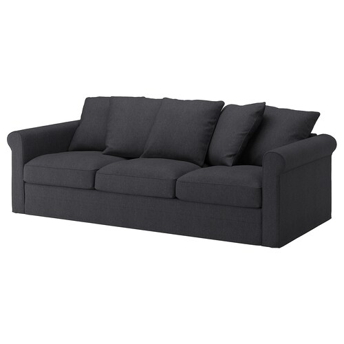 GRÖNLID 3-seat sofa Sporda dark grey 104 cm 247 cm 98 cm 7 cm 18 cm 68 cm 211 cm 60 cm 49 cm