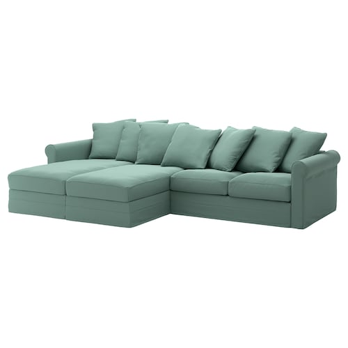 GRÖNLID 4-seat sofa with chaise longues/Ljungen light green 104 cm 164 cm 339 cm 98 cm 126 cm 7 cm 18 cm 68 cm 303 cm 60 cm 49 cm