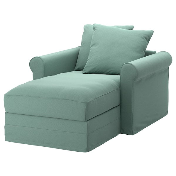 GRÖNLID chaise longue Ljungen light green 104 cm 117 cm 164 cm 7 cm 18 cm 68 cm 81 cm 126 cm 49 cm