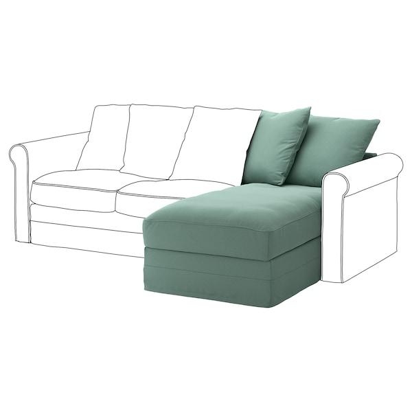 GRÖNLID Chaise longue section, Ljungen light green