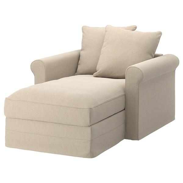 GRÖNLID chaise longue Sporda natural 104 cm 117 cm 164 cm 7 cm 18 cm 68 cm 81 cm 126 cm 49 cm
