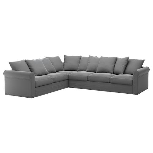 GRÖNLID corner sofa, 5-seat Ljungen medium grey 104 cm 98 cm 322 cm 252 cm 7 cm 18 cm 68 cm 60 cm 49 cm