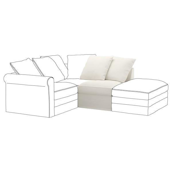 GRÖNLID غطاء قسم مقعد مفرد, Inseros أبيض