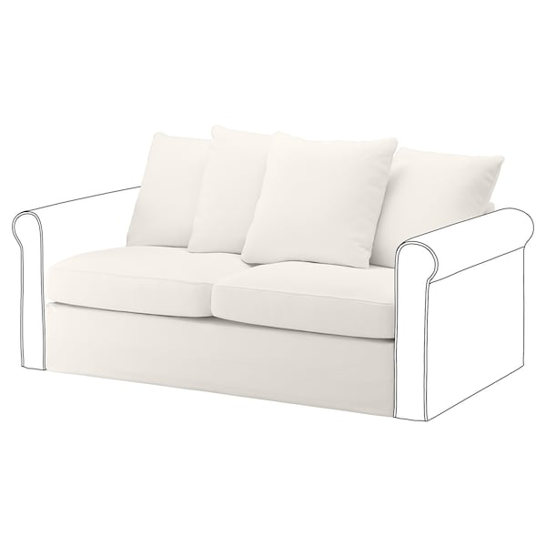 GRÖNLID cover for 2-seat sofa-bed section Inseros white