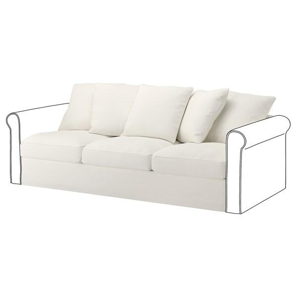 GRÖNLID غطاء قسم بـ 3 مقاعد, Inseros أبيض