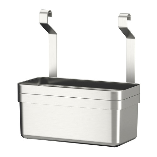 GRUNDTAL Container IKEA Helps free up space on your worktop while keeping cooking utensils close at hand.