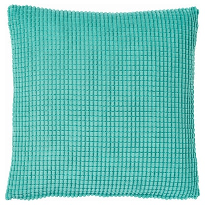 GULLKLOCKA Cushion cover, turquoise, 50x50 cm