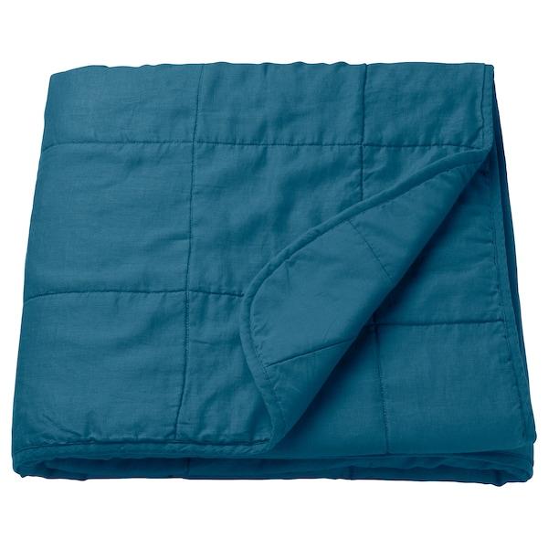 GULVED Bedspread, dark blue, 160x250 cm