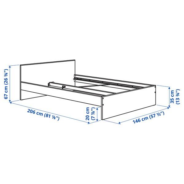 GURSKEN Bed frame with headboard, light beige/Luröy, 140x200 cm