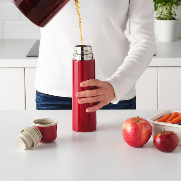 HÄLSA Steel vacuum flask, red, 0.5 l