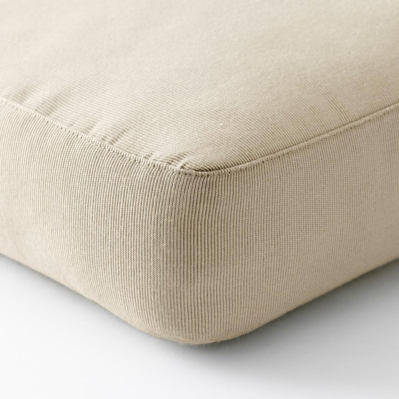 HÅLLÖ Seat cushion, outdoor - beige 9x9 cm