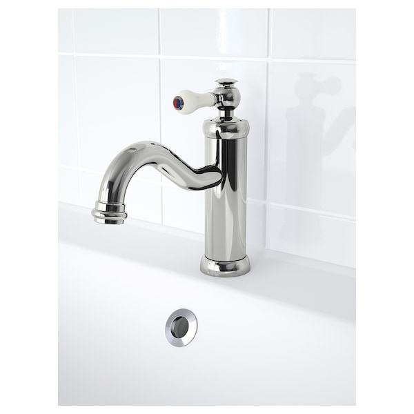HAMNSKÄR wash-basin mixer tap with strainer chrome-plated 19 cm