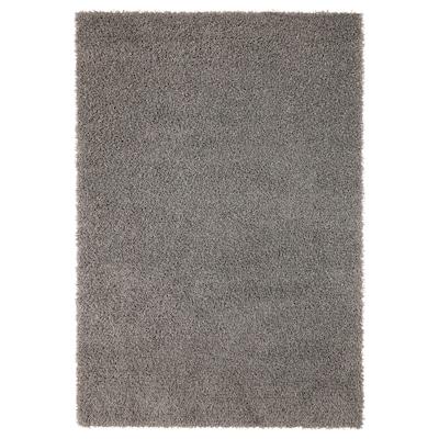 HAMPEN Rug, high pile, grey, 133x195 cm