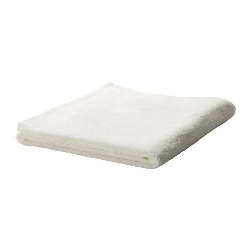 HÄREN Bath towel IKEA A terry towel in medium thickness that is soft and highly absorbent (weight 400 g/m²).