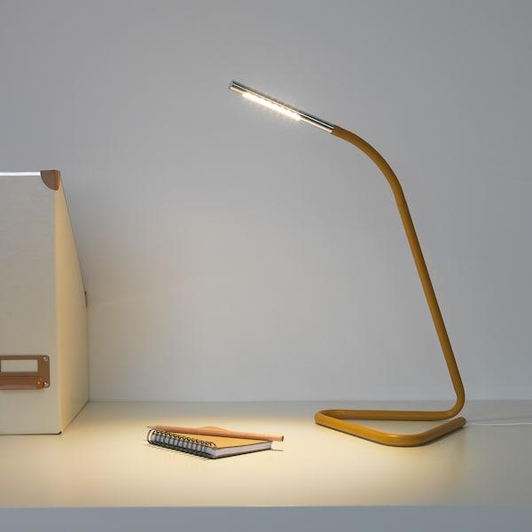 H 197 Rte Led Work Lamp Yellow Silver Colour Ikea