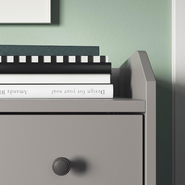 HAUGA Chest of 3 drawers, grey, 70x84 cm