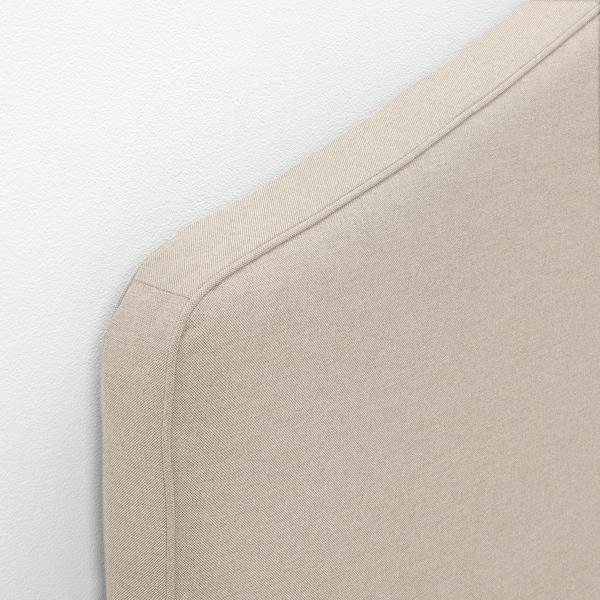 HAUGA Upholstered bed frame, Lofallet beige, 160x200 cm